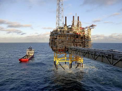 Öljy- ja kaasuyhtiö Statoilin offshore-toimintaa Stavangerin lähellä Norjassa.