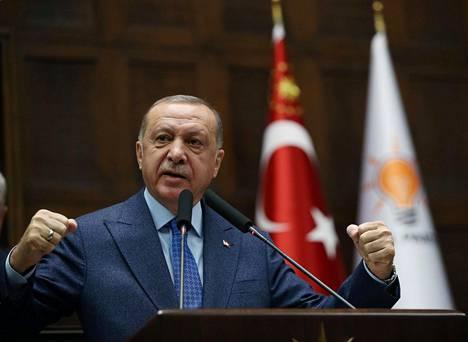 Turkin presidentti Recep Tayyip Erdoğan