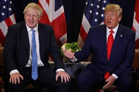 Britannian pääministeri Boris Johnson ja Yhdysvaltojen presidentti Donald Trump tapasivat YK:n yleiskokouksen yhteydessä.