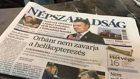 Unkarin vasemmisto-opposition päälehden viimeinen numero ilmestyi lauantaina.