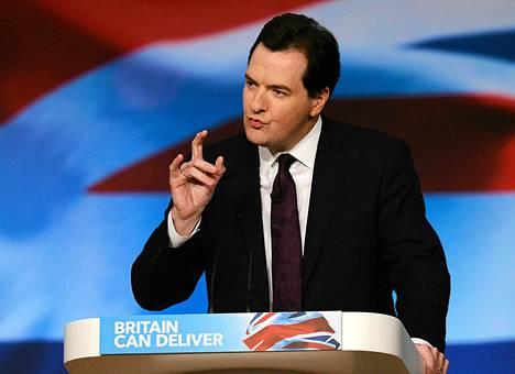 George Osborne esitteli ajatuksiaan maanantaina Birminghamissa.