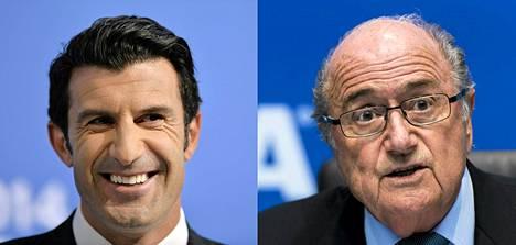 Luis Figo haluaa syrjäyttää Sepp Blatterin Fifan puheenjohtajan paikalta.