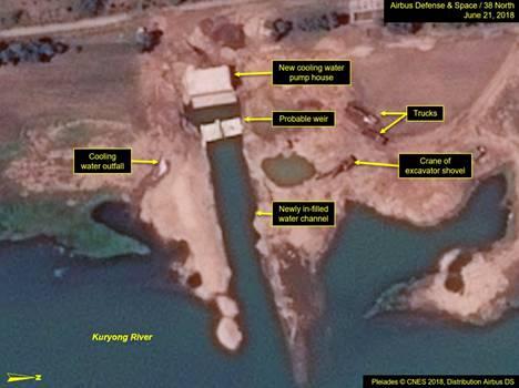 21. kesäkuuta julkaistut satelliittikuvat paljastavat, että voimalan rakennustyöt ovat jälleen edenneet nopealla tahdilla.