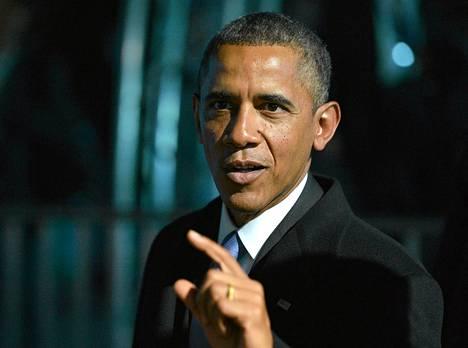 Yhdysvaltain presidentti Barack Obama G20-kokouksessa Pietarissa torstaina.