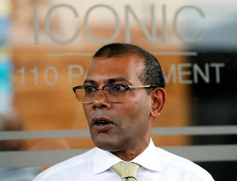 Mohamed Nasheed kuvattiin Sri Lankan pääkaupungissa Colombossa marraskuussa 2018, kun hän valmistautui palaamaan Malediiveille runsaan kahden vuoden maanpaosta.