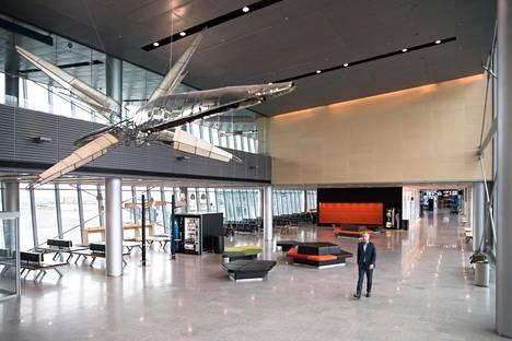 Lentokentän uusi eteläsiipi otettiin vastikään käyttöön.