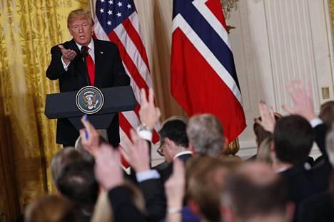 Donald Trump tapasi tällä viikolla Norjan pääministerin Erna Solbergin ja haikaili sitten The Washington Post -lehden mukaan norjalaisten maahanmuuttajien perään.