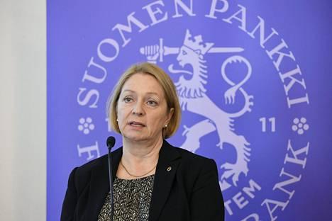 Suomen Pankin johtokunnan varapuheenjohtaja Marja Nykänen.