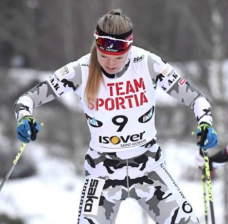 Anita Korva on yksi lupaavista suomalaisista nuorista hiihtäjistä.