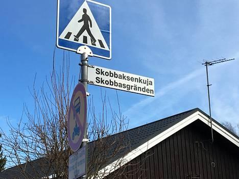 Skobbaksenkuja-nimen alkuperä on mysteeri.
