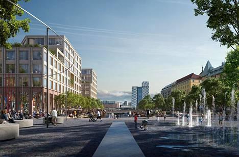 Arkkitehtitoimisto Schauman & Nordgren on kaventanut Hietalahdenrannan altaan kanavaksi, jolloin rantaan on tullut lisää tilaa sekä rakentamiselle että asukkaille.