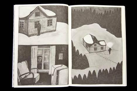 Susanna Kesänen yhdistelee sarjakuvakirjassaan piirtämistä ja valokuvaa.