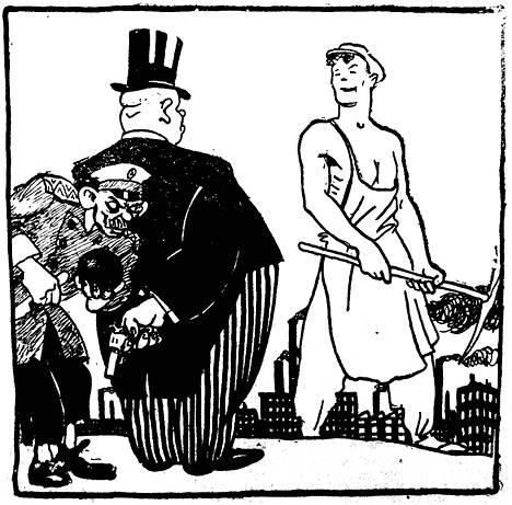 Neuvostopropagandassa esiteltiin terroristien sabotaasijuonia. – Kirjan kuvitusta.