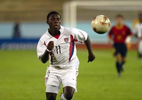 Freddy Adu pelasi vuonna 2003 Suomessa 17-vuotiaiden MM-turnauksessa.