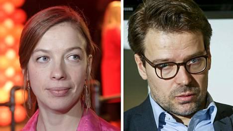 Vasemmistoliiton puheenjohtaja Li Andersson ja vihreiden kansanedustaja Ville Niinistö.