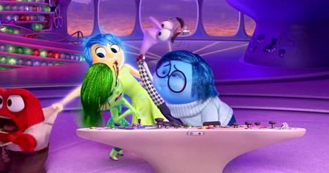 Pixarin Inside Out -elokuvassa esiintyvät Viha, Inho, Ilo, Pelko ja Suru.