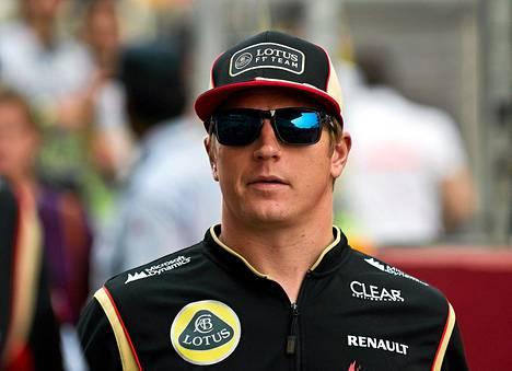 Kimi Räikkönen myöhästyi Abu Dhabista.