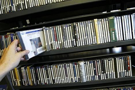 Cd-levyjen lainausmäärät ovat viime vuosina vähentyneet.
