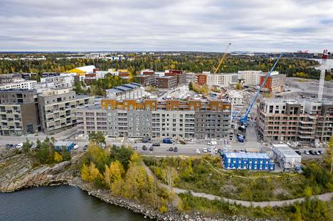 Helsingin investointibudjetista iso osa menee uusien asuinalueiden rakentamiseen. Kuvassa Kruunuvuorenranta.