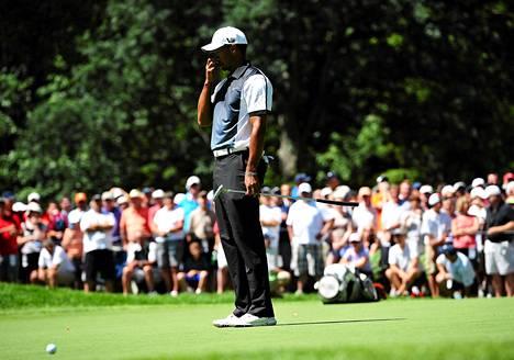 Tiger Woodsin peli ei sujunut lauantaina PGA-mestaruusturnauksessa.