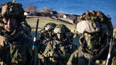 Suomalaisia rannikkojääkäreitä osallistui Naton johtamaan Trident Juncture -sotaharjoitukseen Norjassa vuonna 2018.