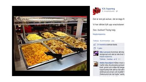Ica-myymälä latasi kuvan sipsipöydästään Facebookiin.