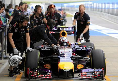 Daniel Ricciardo harjoitteli Itävallassa perjantaina.