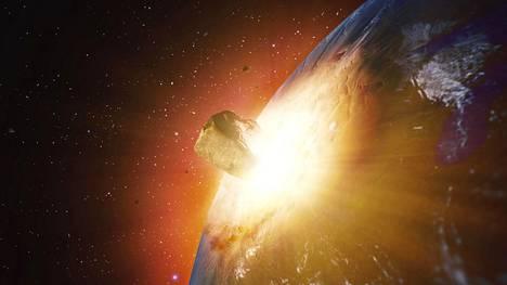 Aasiaan on iskeytynyt myös isoja meteoriitteja, joista yhden paikka on nyt löytynyt. Kuvituskuvaa.