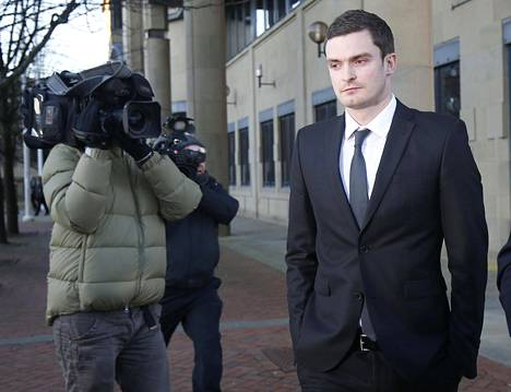 Adam Johnson oli torstaina oikeudessa Bradfordissa.