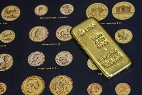 Kilon kultaharkko K.A. Rasmussenin myymälässä elokuussa 2019. Noin 50 000 euron arvoinen tuote on loppunut suuresta osasta maailman sijoituskultamyymälöitä.