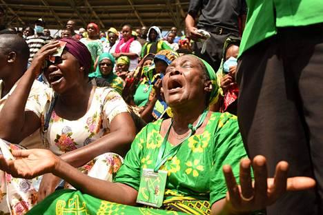 Presidentti John Magufulin surijoita Dar es Salaamissa Tansaniassa 20. maaliskuuta.