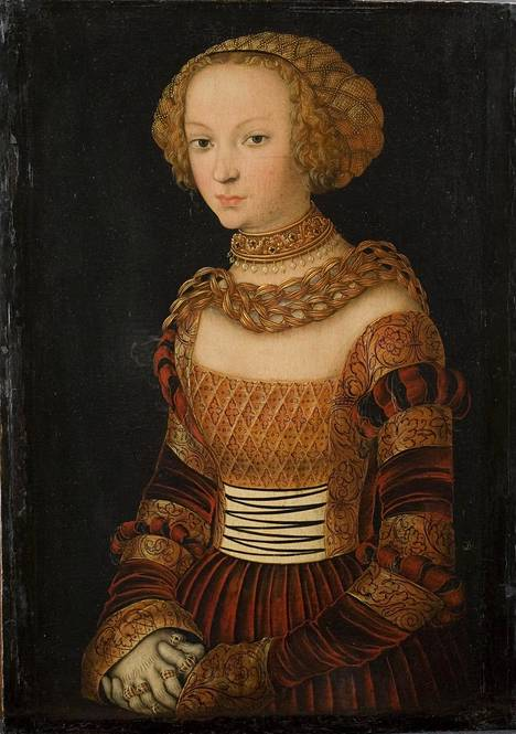 Lucas Cranach vanhempi: Nuoren naisen muotokuva (Prinsessa Emilia Saksilainen?), ennen 1537.