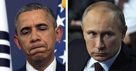 Barack Obama ja Vladimir Putin.