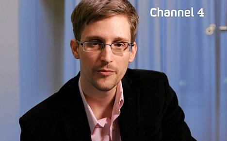 Channel 4:n jouluaattona välittämä kuva tietovuotaja Edward Snowdenista.