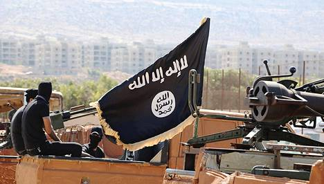 Isisin taistelijoita Raqqan kaupungissa Syyriassa marraskuussa 2015.
