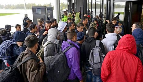 Turvapaikanhakijoita saapui Tornioon viime syyskuussa.