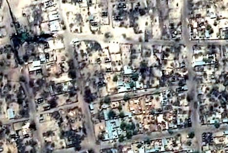 Human Rights Watchin julkistamat satelliittikuvat paljastavat tuhansia tuhottuja koteja Bagassa Nigeriassa.