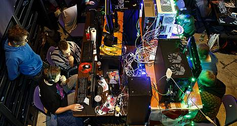 Tietokonepelaajia Assembly -pelitapahtumassa Hartwall Areenalla viime elokuussa.