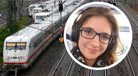 Leonie Müller asuu junassa.