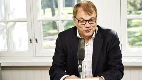 Pääministeri Juha Sipilä pääministerin haastattelutunnilla Kesärannassa.