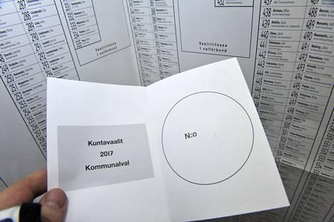 Kuntavaaleissa äänestetään tänään sunnuntaina.