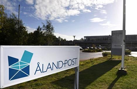 Ålands Postin logistiikkakeskus Maarianhaminassa Ahvenanmaalla syyskuussa 2016.