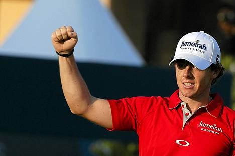 Rory McIlroy voitti marraskuun lopussa Dubaissa järjestetyn Euroopan tourin päätöskisan.