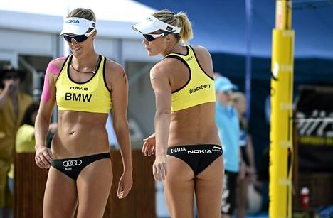 Erika ja Emilia Nyströmin turnaus päättyi perjantaina.
