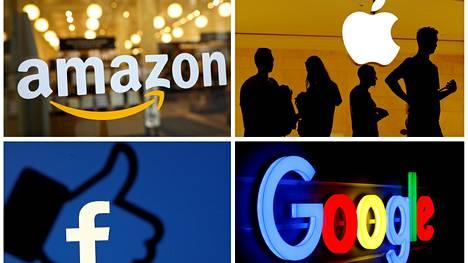 Amazonin, Facebookin, Applen ja Googlen emoyhtiö Alphabetin toimitusjohtajia kuullaan Yhdysvaltojen edustajainhuoneen kilpailukomitean tilaisuudessa.