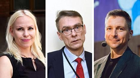 Niina Mäntylä, Tuomas Pöysti ja Teemu Roos.