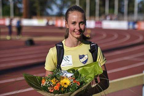 Viivi Lehikoinen juoksi 400 metrin aidoissa ennätyksensä 2. kesäkuuta Jyväskylässä.