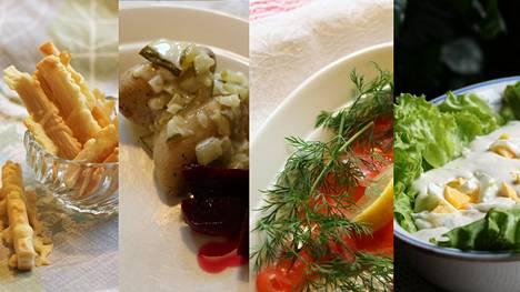 Juustotangot, ludivedo ja kalaruuat ovat esimerkiksi kuuluneet espoolaiseen ruokapöytään.