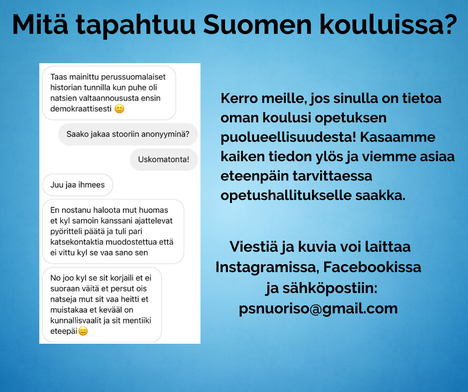 """Kuvakaappaus Jani Mäkelän Facebookissa jakamasta pyynnöstä ilmiantaa """"perussuomalaisten vastaista politikointia""""."""