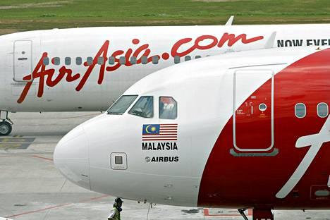 AirAsian kadonnut kone on mallia Airbus A320-200.